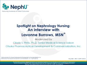 Spotlight On Nephrology Nursing: An Interview With Lavonne Burrows, MSN