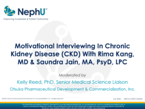 Motivational Interviewing In Chronic Kidney Disease