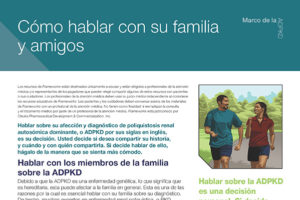 ADPKD: Talking With Your Family & Friends (Spanish)