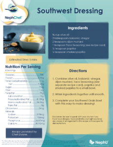 Kitchen Creations for Kidney Health: Southwest Dressing
